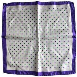 Silk Polka dot - White/Purple/Green