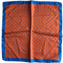 Silk Polka dot - Orange/Light Blue