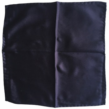 Solid Satin Silk Pocket Square - Navy Blue