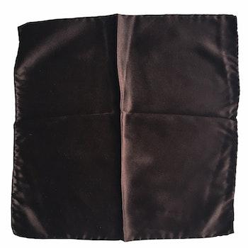 Solid Satin Silk Pocket Square - Dark Brown