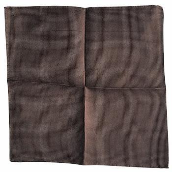 Solid Garza Silk Pocket Square - Light Brown
