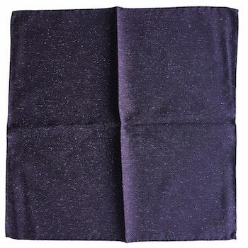 Solid Donegal Silk Pocket Square - Dark Purple