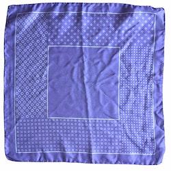 Multi Printed Silk Pocket Square - Light Purple/White