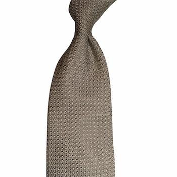 Solid Silk Grenadine Grossa Tie - Untipped - Champagne