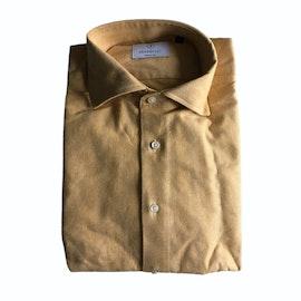 Solid Herringbone Flannel Shirt - Cutaway - Yellow
