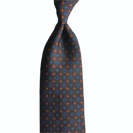 Medallion Ancient Madder Silk Tie - Untipped - Brown/Green/Orange/Blue