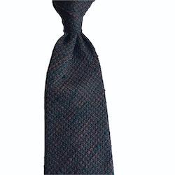 Semi Solid Shantung Grenadine Tie - Untipped - Orange/Green