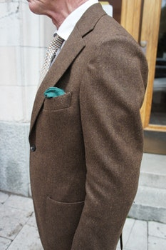 Solid Wool Jacket - Unconstructed - Brown
