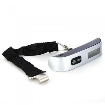 Digital bagagevåg & termometer - Max 50 kg - Batteri ingår