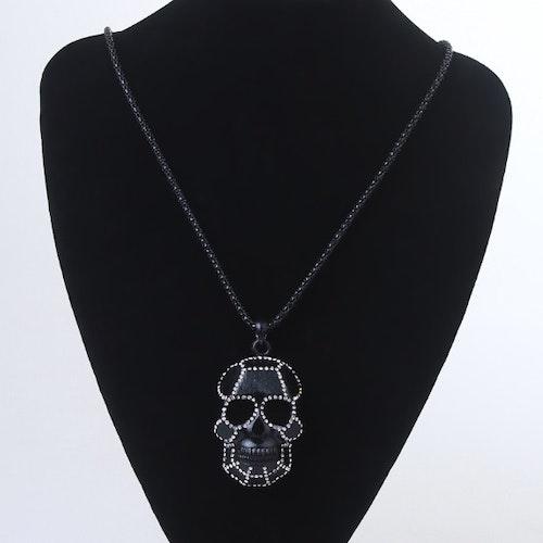 Döskalle halsband, Black skull