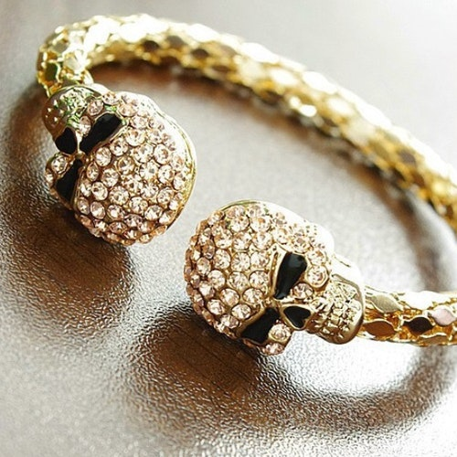 Döskalle armband, Crystal Yellow