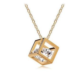 Halsband, Zirconia Style - Guldfärgad