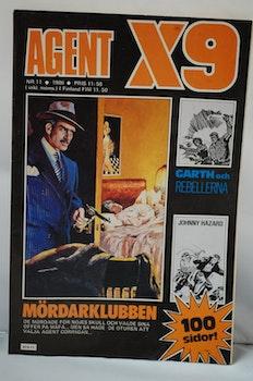 Serietidning Agent X9 Nr 11 - År 1986