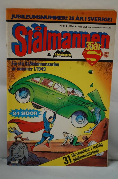 Serietidning Stålmannen 35 år Nr 9 - År 1984