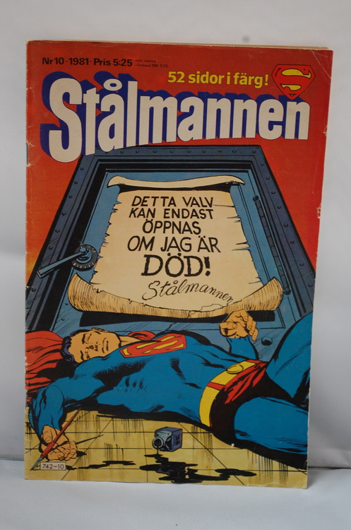 Serietidning Stålmannen Nr 10 - År 1981