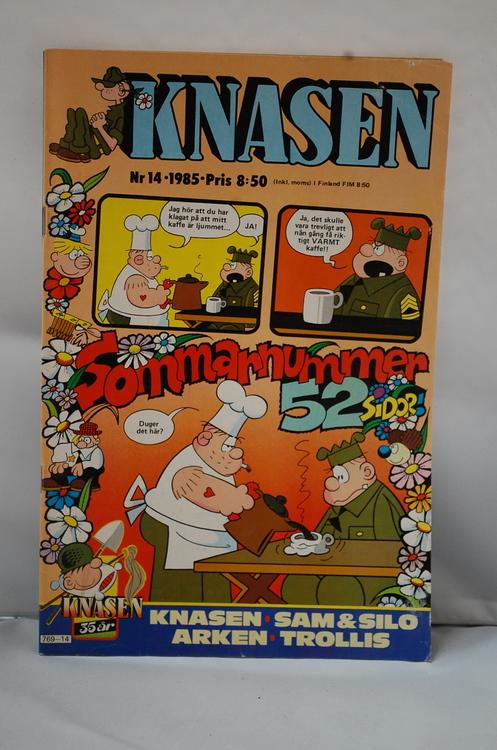Serietidning Knasen Nr 14 - År 1985