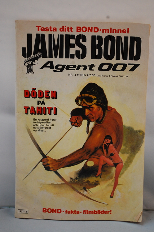 Serietidning James Bond Agent 007 Nr 4 - År 1985