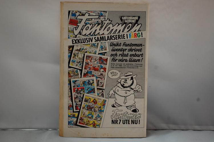 Serietidning Stålmannen Nr 4 - År 1985