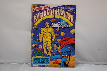 Serietidning Rymdens Hjältar med Stålpojken Nr 2 - År 1980