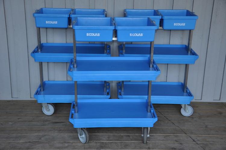 Städvagnar på hjul från EcoLab