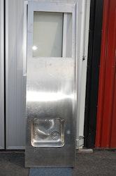 Rostfri bänkskiva med vask - 200 cm
