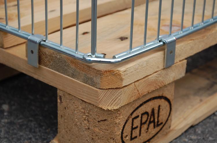 Pallkrage i metall till EUR pallar