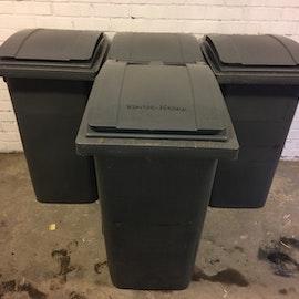 Sopkärl Mörkgrå - 240 liter