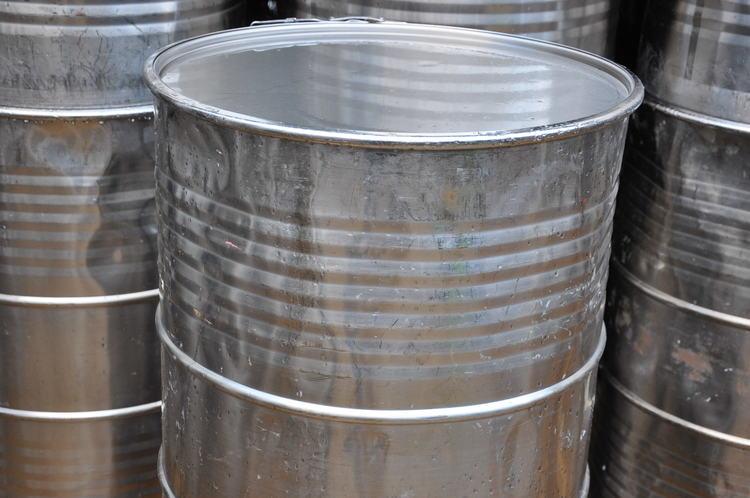 Rostfri plåttunna / fat - 88 cm