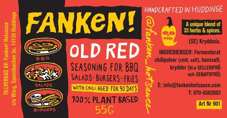 ***PROMO SOLD OUT*** FANKEN! OLD RED Seasoning