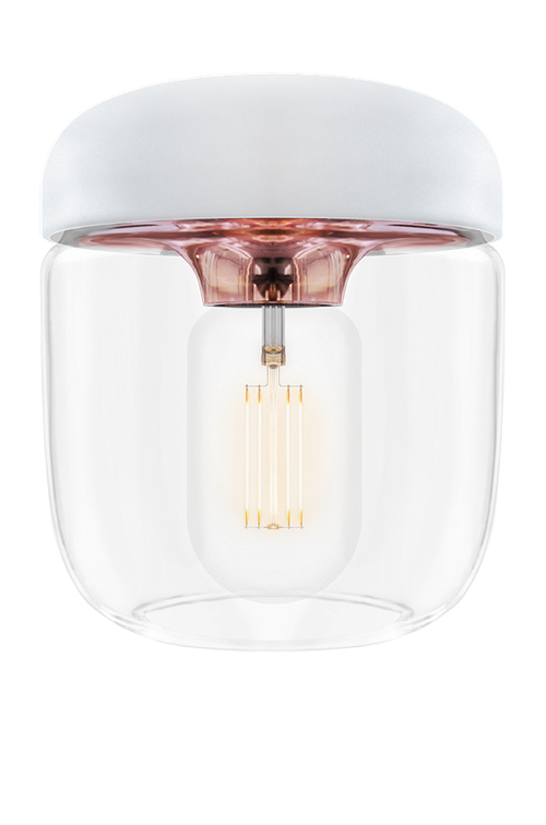 UMAGE  - Lampskärm - Acorn Vit Polerad koppar