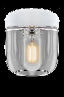 UMAGE - Lampskärm - Acorn Vit Polerat stål