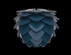 UMAGE - Lampskärm - Aluvia, Petrol Blue