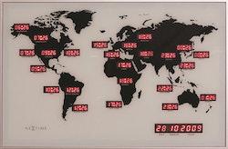 Nextime -Världsklocka - World Time Digit 55cm