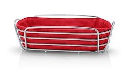 BLOMUS Delara brödkorg, oval - Röd