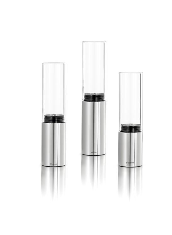 BLOMUS Faro värmeljushållare - Rostfritt stål (3-pack)