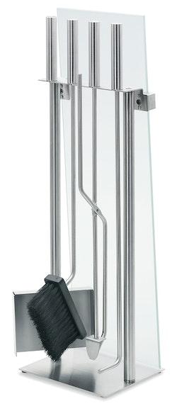 BLOMUS Chimo eldstad set - Rostfritt stål (5 delar, glasfront)