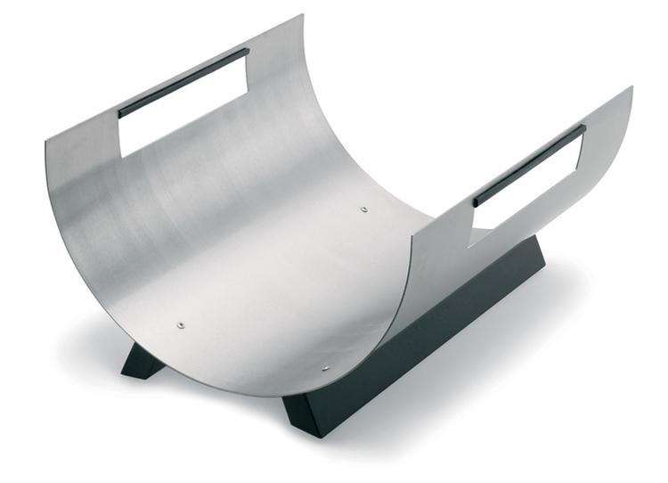 BLOMUS Chimo vedkorg - Rostfritt stål (rund)