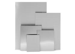 BLOMUS Muro magnettavla - Rostfritt stål, 40x50 cm, magnetisk