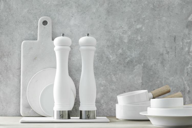 GENSE Java matt kryddkvarn, salt/peppar - Vit, 30 cm