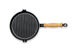 GENSE Grillpanna med trähandtag (Ø 250)