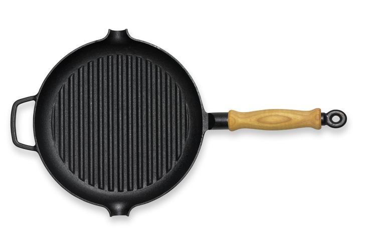 GENSE Grillpanna med trähandtag (Ø 280)