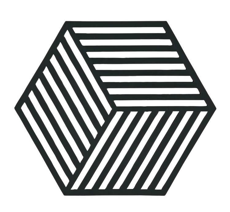ZONE Grytunderlägg Hexagon Svart
