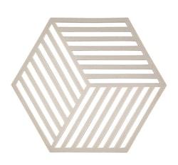 ZONE Grytunderlägg Hexagon Ljusgrå
