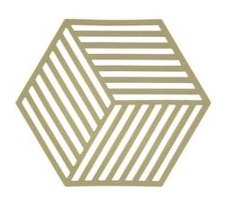 ZONE Grytunderlägg Hexagon Oliv