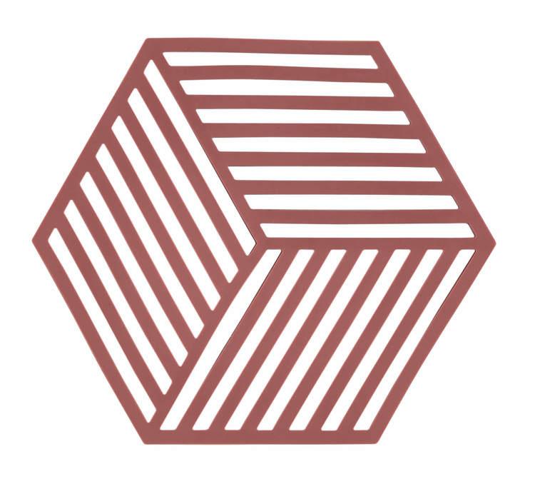 ZONE Grytunderlägg Hexagon Siena Röd