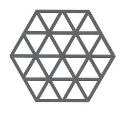 ZONE Grytunderlägg Hexagon/trekant Grå