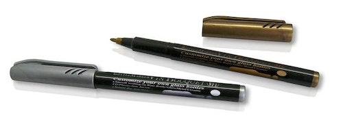 VINBOUQUET - Bottle Markers Glaspennor - Guld/Silver