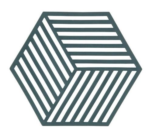 ZONE - Hexagon Grytunderlägg - Cactus/Olive/Nude/Sienared