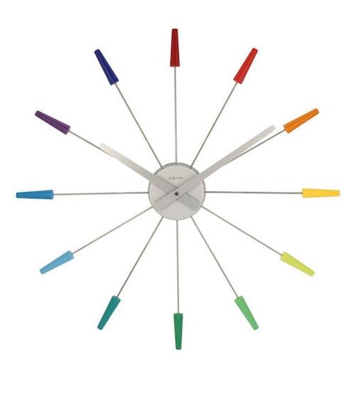 NEXTIME - PlugInn Väggklocka - Multifärg/Guld/Silver/Svart