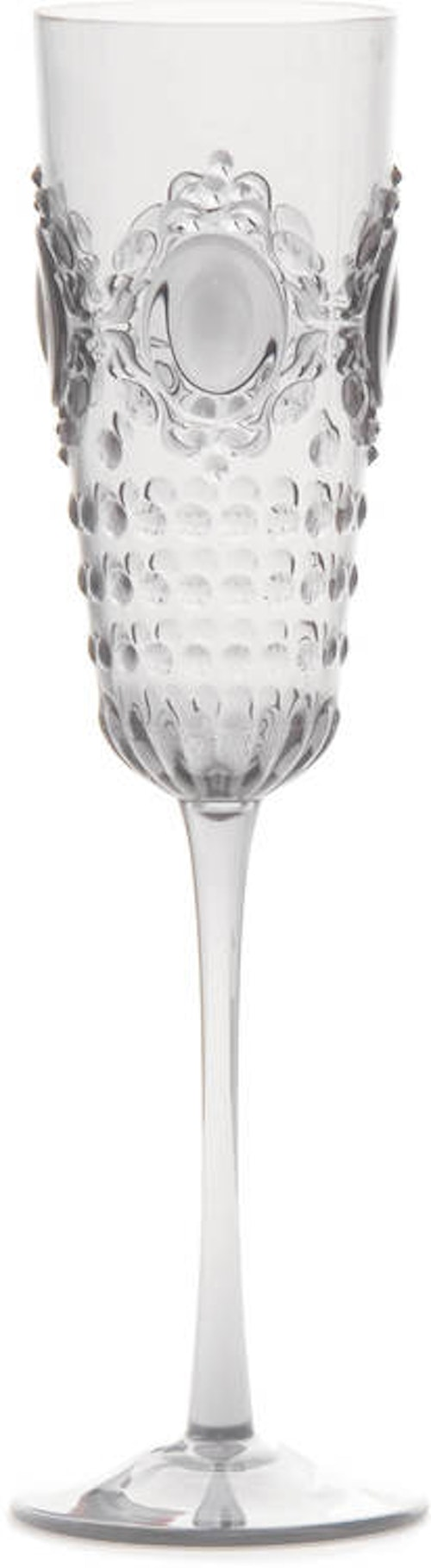 BACI MILANO - Baroque & Rock Champagneglas - Clear 6-pack